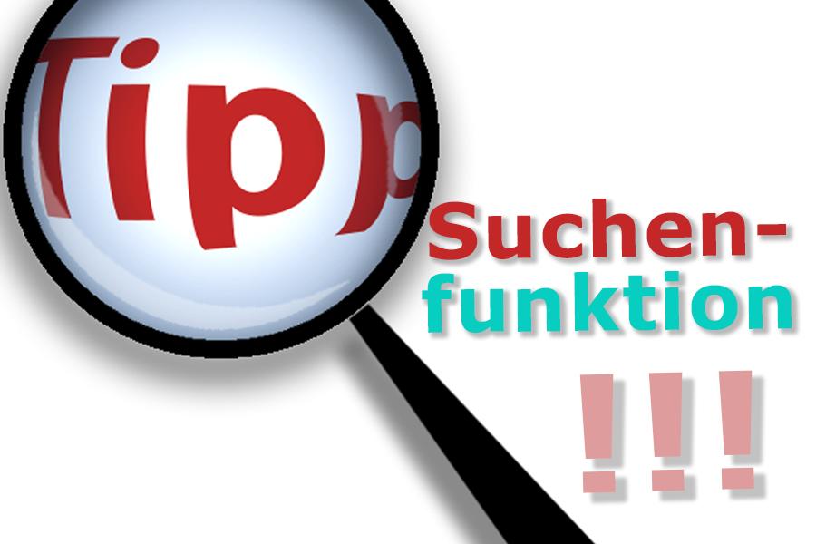 Tipp-Suchfunktion